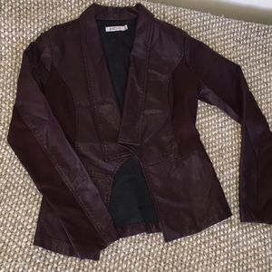 Just Fab leather jacket never been worn!